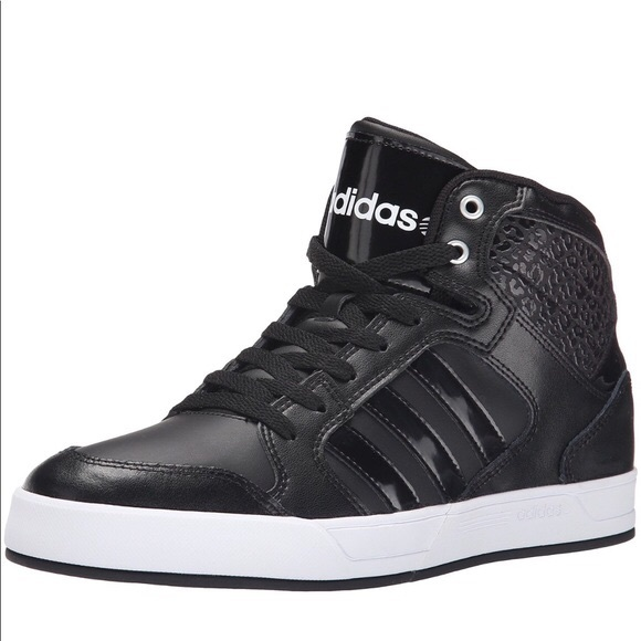 Adidas black Neo Raleigh high top sneakers leopard